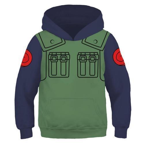 Kids Hatake Kakashi Hoodies Naruto Pullover 3D Print Jacket Sweatshirt