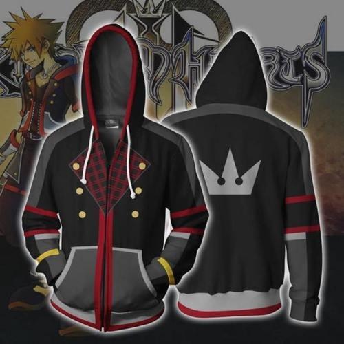 Kingdom Hearts Hoodie - Sora Zip Up Hoodie Csos307