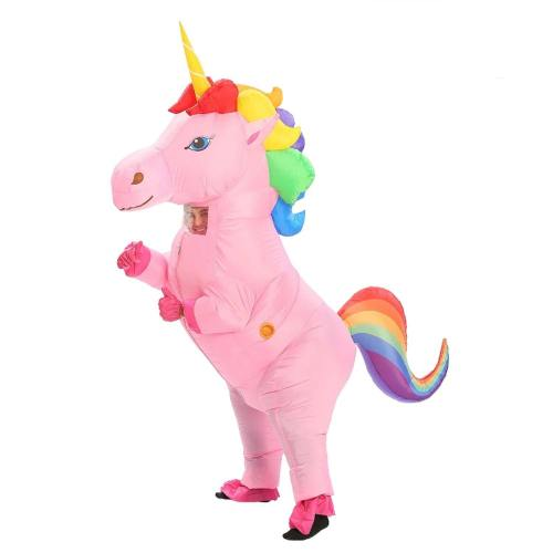 Unicorn Inflatable Costume For Adult Kid Halloween Party Costume Carnival Mascot Costume Purim Christmas Cosplay Clothing