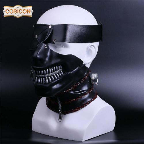 Tokyo Ghoul 2 Kaneki Ken Cosplay Masks Latex Zipper Adjustable Cool Masks Halloween Party Prop