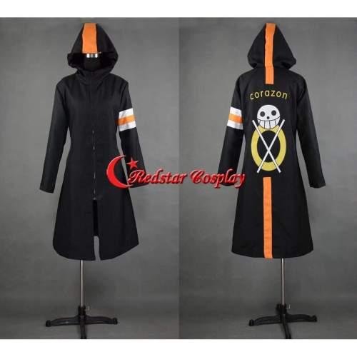 One Piece Trafalgar Law Coat 3 Years Later Cosplay Costume Long Black Coat