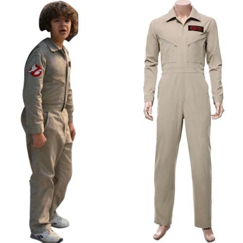 Stranger Things Season 2 Ghost Busters Team Jumpsuit Cosplay Costume