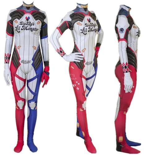 Suicide Squad Superhero Harley Quinn Bodysuit Jumpsuit Cosplay Costume