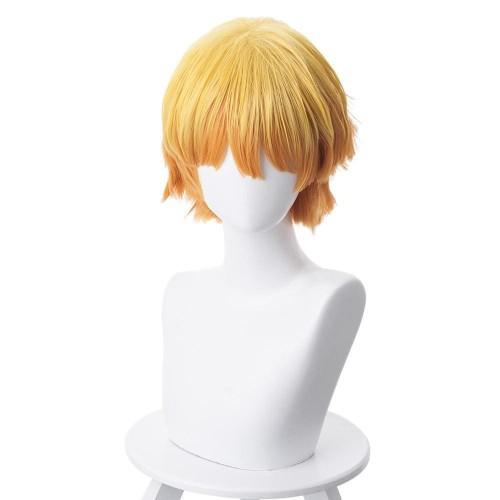 Demon Slayer Agatsuma Zenitsu Outfit Cosplay Wig
