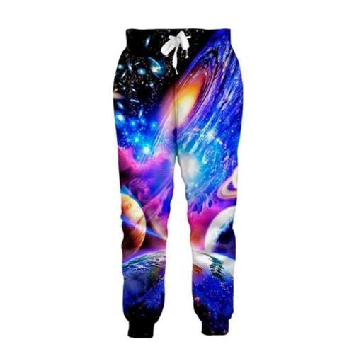 Mens Jogger Pants 3D Printing Planet Galaxy Pattern Trousers