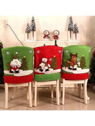 Christmas Chair Cover Set Christmas Decoration