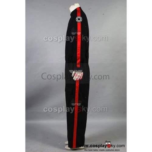 Star Wars Imperial Tie Fighter Pilot Black Flightsuit Uniform Jumpsuit B