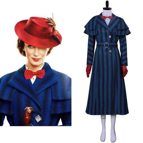 Mary Poppins Returns Costume Mary Poppins Dress Hat For Adult