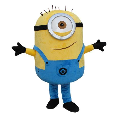 Despicable Minion Mascot Costume Carnival Festival Dress Outfit Adult Size