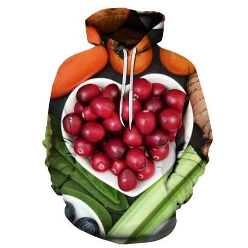 Heart Shape Fruits 3D Sweatshirt
