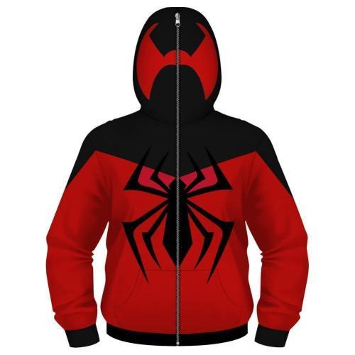 Scarlet Spider Man Hoodie Kids Superhero Costume Sweatshirt