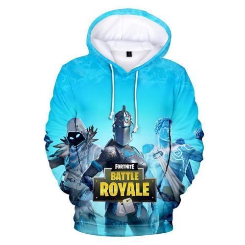 Fortnite Hoodie Unisex Blue Teen Sweatshirt