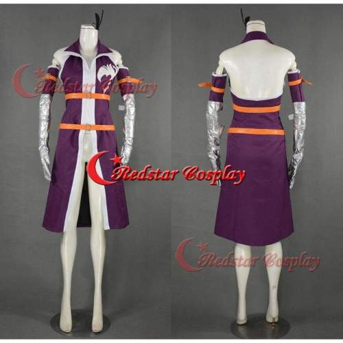 Erza Scarlet Cosplay (Purple) From Fairy Tail  - Costume Made In Any Size