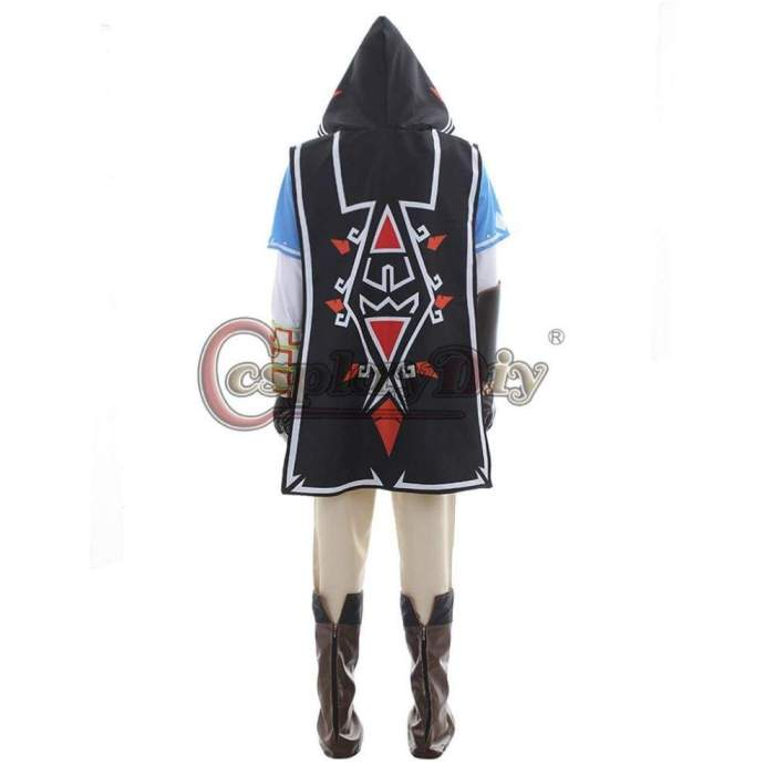The Legend of Zelda Breath of the Wild Link Cosplay Costume Adult Men Halloween Costumes Cape Outfit Custom Made J10