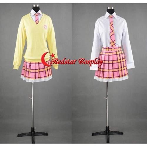 Noragami Pink Hair God Kofuku Uniform Cosplay Costume Custom In Sizes