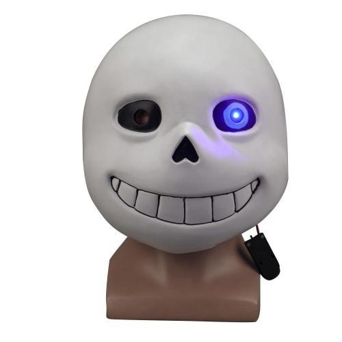 Undertale Sans Latex Led Light Full Mask Halloween Cosplay Costumes