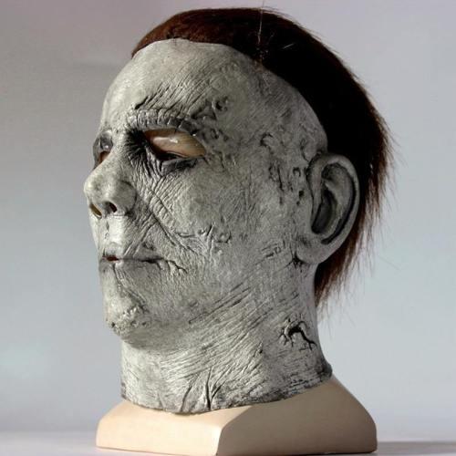Horror Michael Myers Latex Mask Full Face Helmet Halloween Scary Props