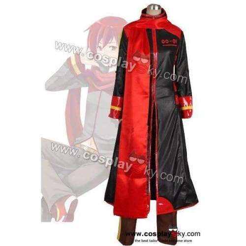 Vocaloid Akaito Red & Black Cosplay Costume