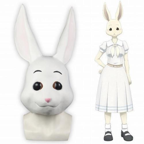 Anime Beastars Legosi The Rabbit Full Head Mask Cosplay Halloween Masquerade Masks Latex Adult Props