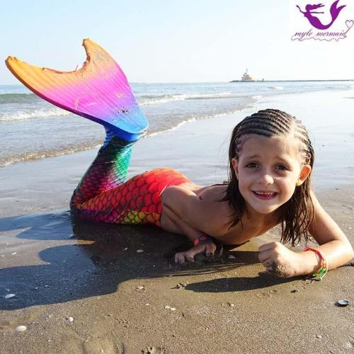 13 Color Girls Swimmable Mermaid Tail W Monofin Christmas Gift For Kids Children Mermaid Tail