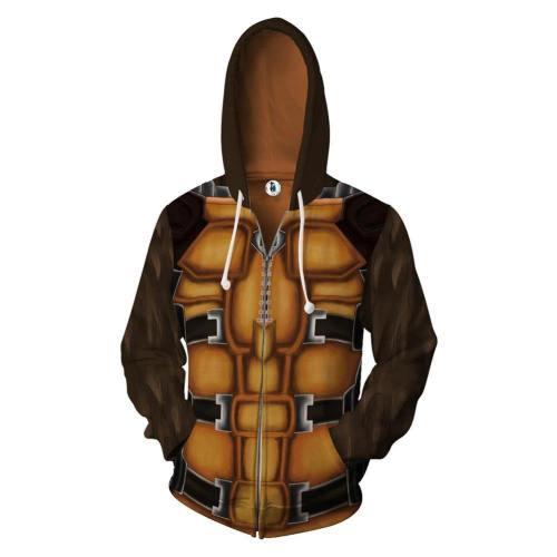 Unisex Rocket Raccoon Hoodies Guardians Of The Galaxy Zip Up 3D Print Jacket Sweatshirt