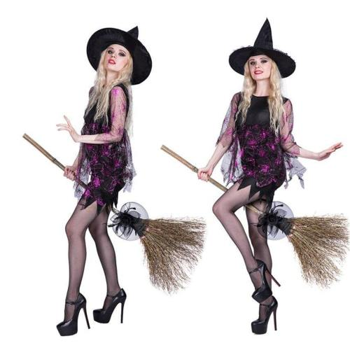 Witch Dress Costumes Carnival Masquerade Performance Clothing With Hat