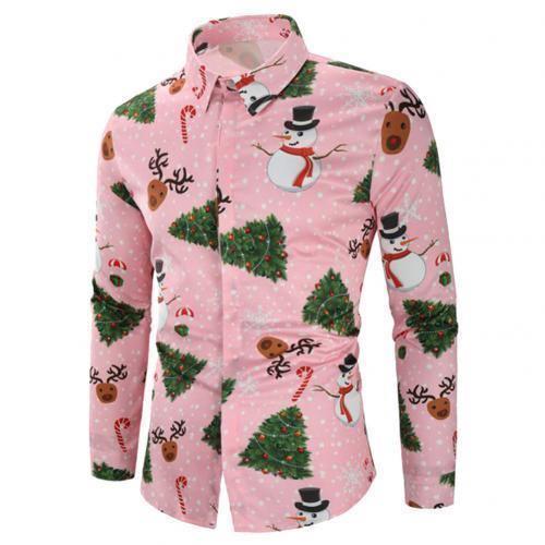 Fashion Christmas Men Dress Shirt