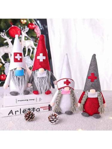 Christmas Gnome Nurse Doll Ornaments Christmas Decoration