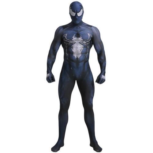 Marvel Superhero Venom Symbiote Spiderman Zentai Skin Tight Suits Jumpsuit Halloween Cosplay Costume