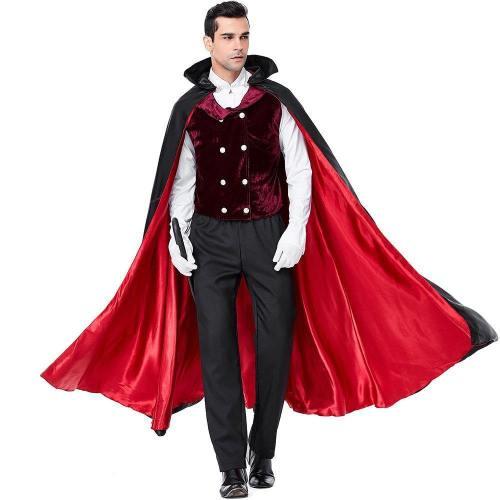 Halloween Vampire Costume Dracula Earl Suit Cloak For Man