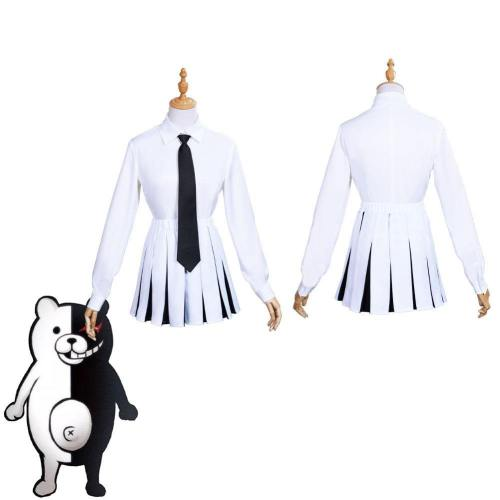 Anime Danganronpa Monokuma Women Uniform Dress Outfits Halloween Carnival Suit Cosplay Costume