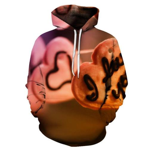 I Love You Cookie 3D - Sweatshirt, Hoodie, Pullover