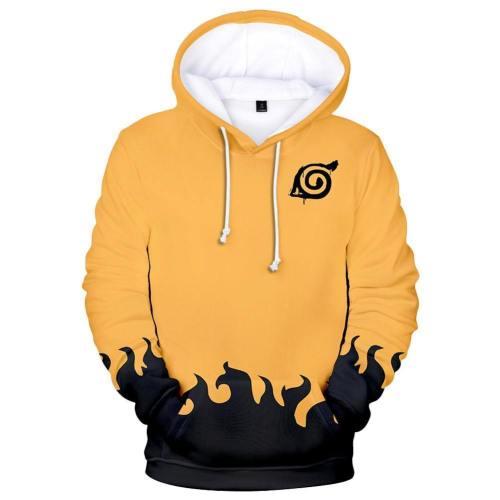 Unisex Kyuubi Seal Hoodies Naruto Pullover 3D Print Jacket Sweatshirt