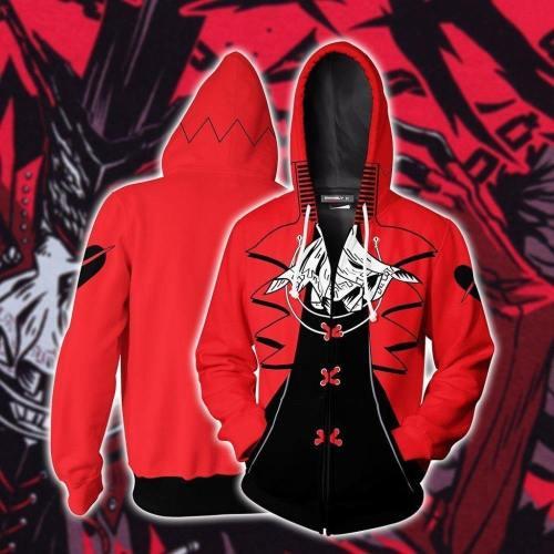 Persona 5 Hoodie - Takamaki Ann Zip Up Hoodie Csos823