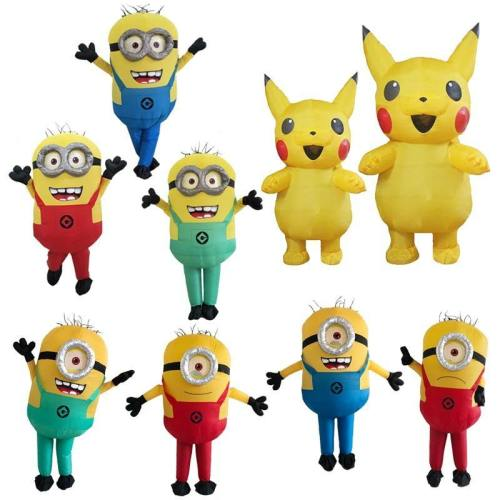 Anime Cartoon Minion Pikachu Mascot Inflatable Cosplay Costumes