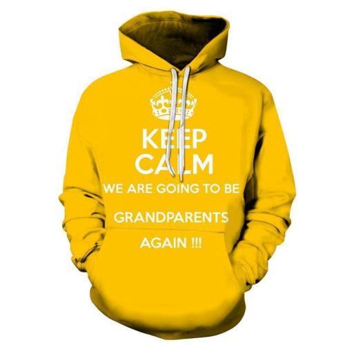 Yellow Grandma 3D - Sweatshirt, Hoodie, Pullover
