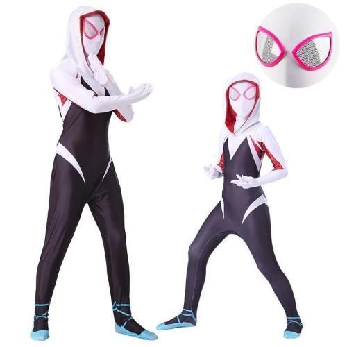 Spider Gwen Jumpsuit Venom Cosplay Costume For Women And Girls Halloween