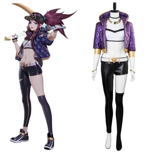 League Of Legends The Rogue Assassin Akali K/Da Skin Cosplay Costume