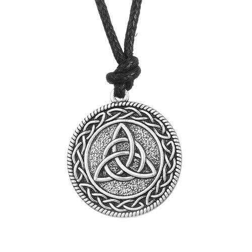 Sterling Silver Vintage Round Triquetra Necklace