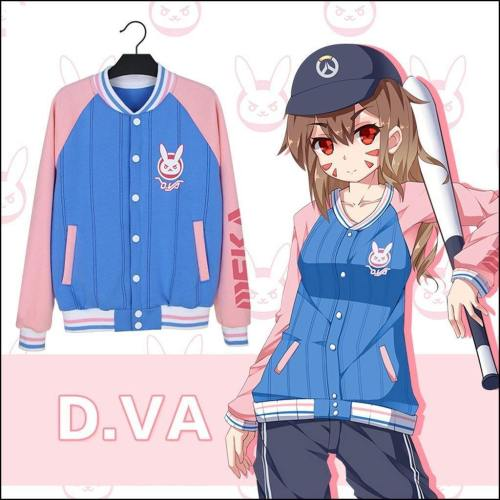 Overwatch Dva  Cosplay Jacket Baseball Coat