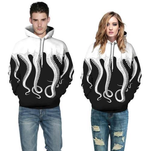 3D Print Hoodie - Octopus Tentacles Pullover Hoodie Css003