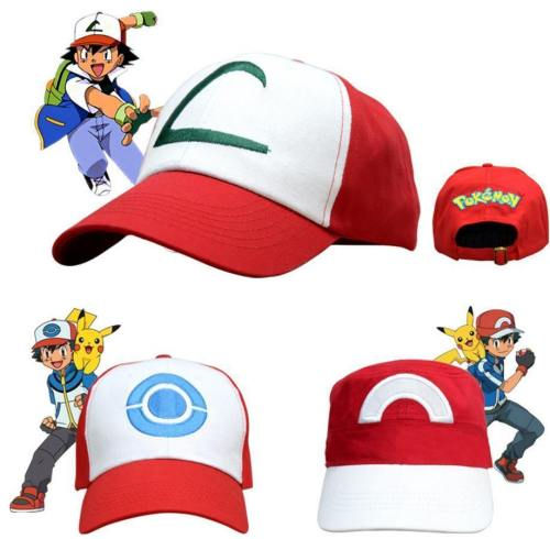 Pocket Monster Pokemon Ash Ketchum Halloween Hats Cap Cosplay Costumes