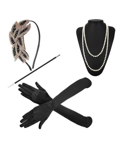Headband Set Gatsby Prom Vintage Beads