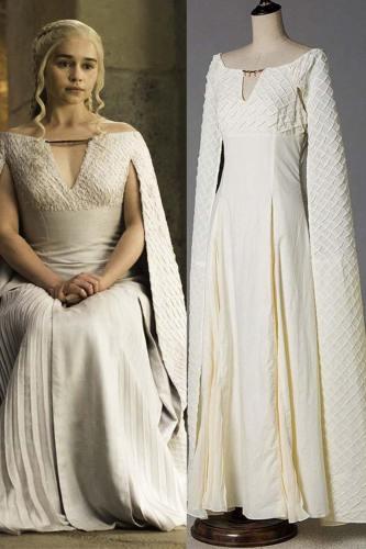 Game Of Thrones Daenerys Targaryen Cosplay Costume Season 5 Mother Of Dragon Outfit