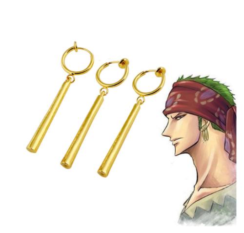 Jojo'S Bizarre Adventure Kujo Jotaro Earrings Noriaki Stud Ear Clip