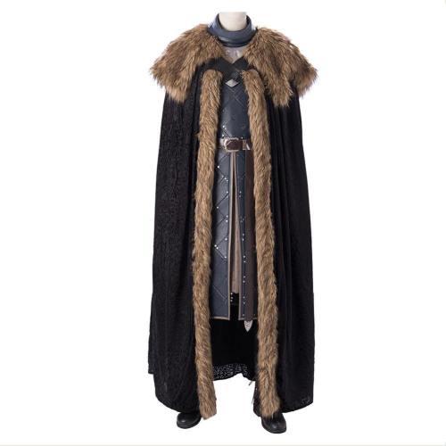 Game Of Throne Jon Snow Full Set Cosplay Costume