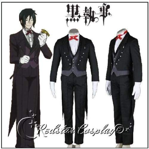 Black Butler Sebastian Michaelis Cosplay Costume Custom in Any size