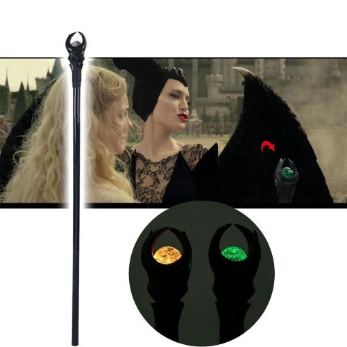 Maleficent 2 Mistress Of Evil Cosplay Led Wand Angelina Witch Cane Halloween Prop