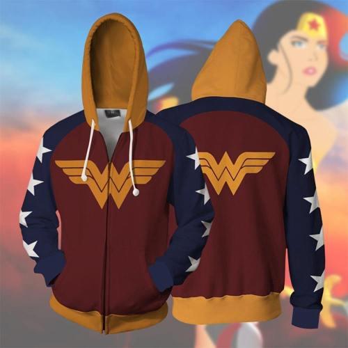 Wonder Woman Hoodie Sweater Wonder Woman  Busters 3D Sweatshirt Wonder Woman  Cosplay Costume