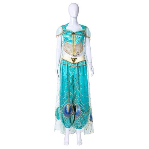 Movie Aladdin Princess Jasmine Halloween Cosplay Costume Women Kids
